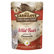Carnilove Cat Pouch Rich in Wild Boar Enriched with Chamomile 85g