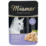 Kapsičky Miamor Cat Filet Jelly tuniak + kalamáre v želé 100g