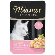Miamor Cat Filet Jelly tuniak + krab v želé 100g