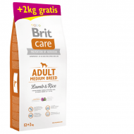 Brit Care Dog Adult Medium Breed Lamb & Rice 12kg + 2kg ZDARMA