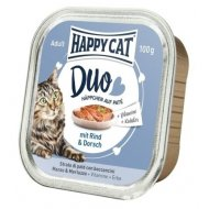 Happy cat Duo Menu Hovädzie & Treska 100g