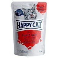 Happy Cat kaspička Meat in Sauce Adult Veal & Liver 85g
